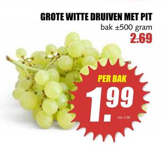 GROTE WITTE DRUIVEN MET PIT 500 gram