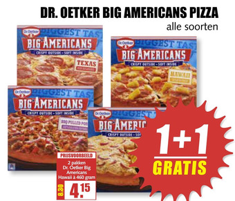 DR. OETKER BIG AMERICANS PIZZA