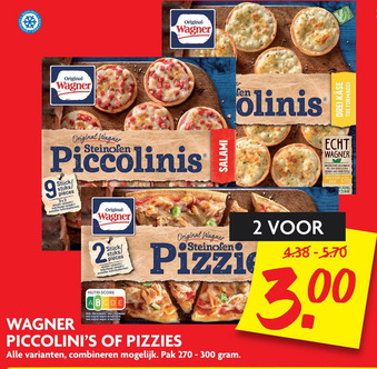 Wagner Piccolini's of Pizzies pak 270-300 gram