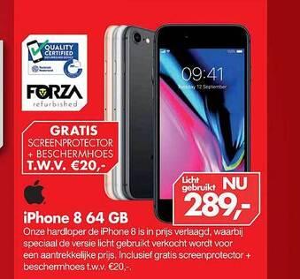 iPhone 8 64GB + gratis screenprotector en beschermhoes
