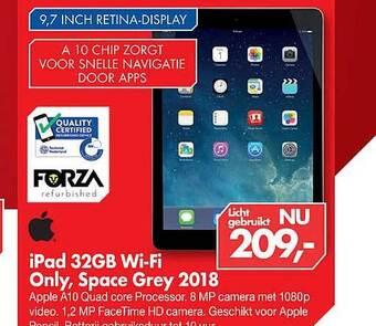 iPad 32GB Wi-Fi Only, Space Grey 2018