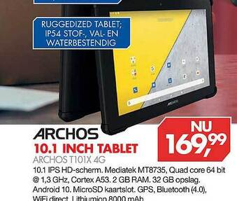 Archos 10.1 inch tablet T101X 4G