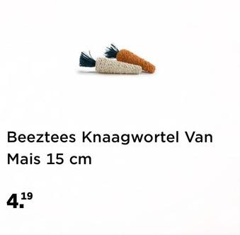 Beeztees Knaagwortel Van Mais 15 cm