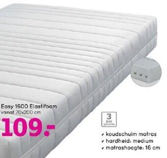 Easy 1600 Elastifoam 70x200 cm