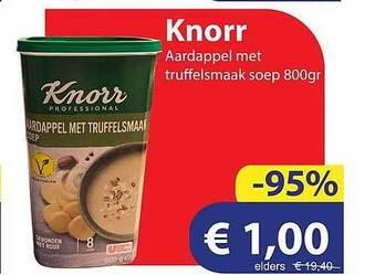 Knorr Aardappel Met Truffelsmaak Soep 800gram