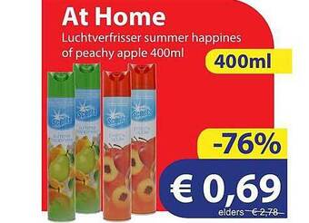 At Home Luchtverfrisser Summer Happines Of Peachy Apple 400 Ml