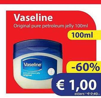 Vaseline Original Pure Petroleum Jelly 100ml
