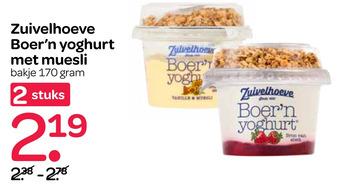 Zuivelhoeve Boer'n yoghurt met muesli