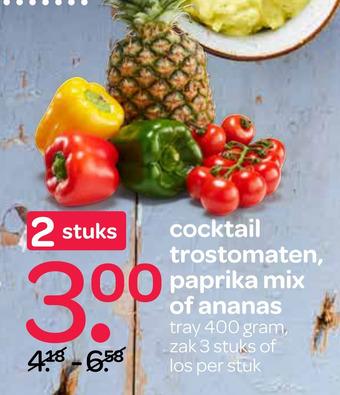 Cocktail Trostomaten, Paprika Mix Of Ananas 400 grams
