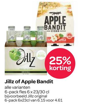 Jillz of Apple Bandit 6x23/30cl