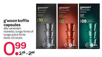 g'woon koffie capsules