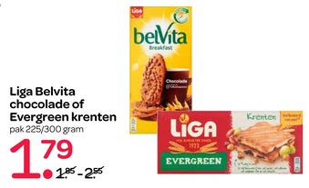 Liga Belvita chocolade of Evergreen krenten