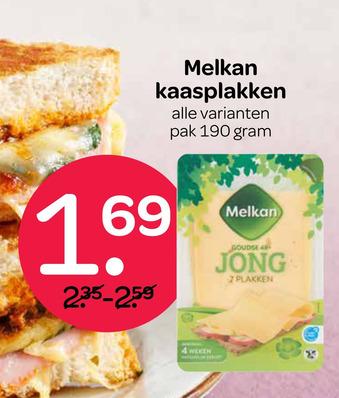 Melkan kaasplakken 190 gram