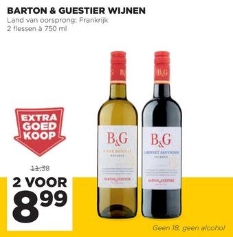 Barton & guestier wijnen 750ml