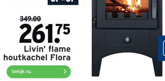 Livin' flame houtkachel Flora