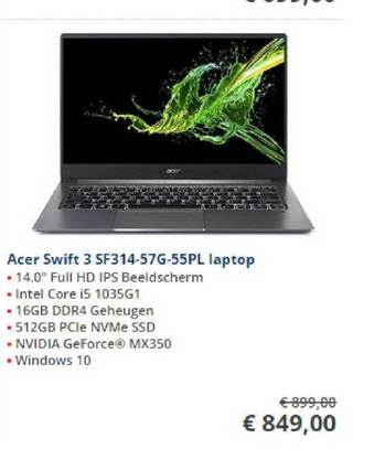 Acer Swift 3 SF314-57G-55PL Laptop