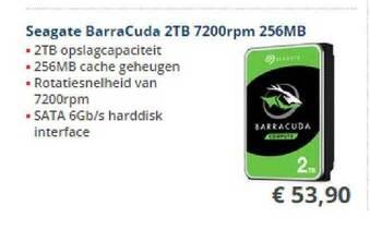 Seagate Barracuda 2TB 7200rpm 256MB