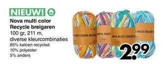 Nova Multi Color Recycle Breigaren