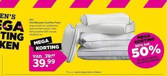 Hoofdkussen Duoflex Foam 30% Tot 50% Korting 40x60x13 cm