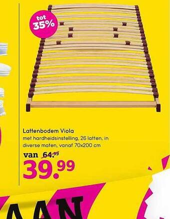 Lattenbodem Viola 70x200 cm