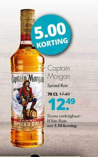 Captain Morgan Spiced Rum 5.00 Korting