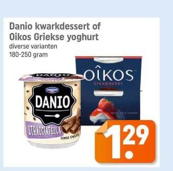 Danio Kwarkdessert Of Oikos Griekse Yoghurt 180-250 gram
