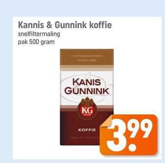 Kannis & Gunnink Koffie 500 gram