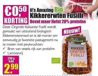 it's amazing bio kikkererwten fusilli 250g