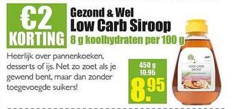 gezond & wel low carb siroop 450g