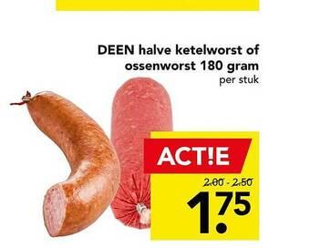 Deen halve ketelworst of ossenworst