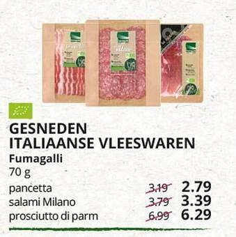 Gesneden Italiaanse Vleeswaren Fumagalli 70g