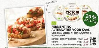 Fermentino Alternatief Voor Kaas Camelia - Cicioni - Fermé - Grattino 100g
