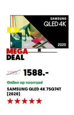Samsung QLED 4K 75Q74T