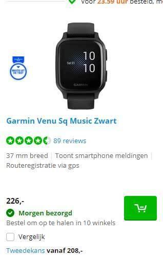 Garmin Venu Sq Music Zwart