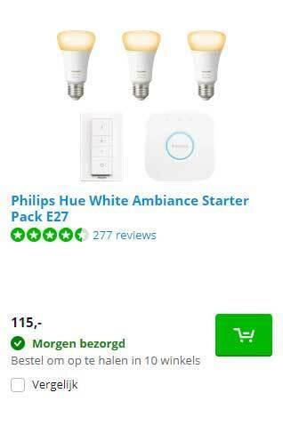 Philips Hue White Ambiance Starter Pack E27