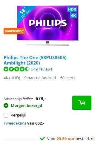 Philips The One (58PUS8505) Ambilight (2020)