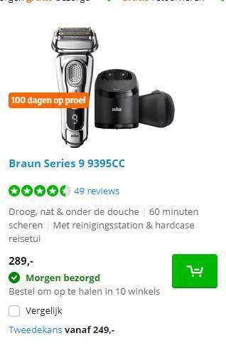 Braun Series 9 9395CC Baardtrimmer